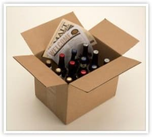 microbrew beer in a box