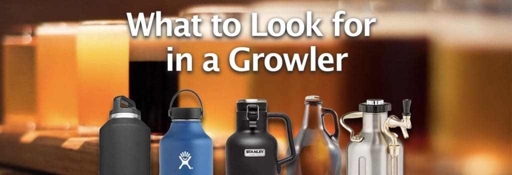 a collection of growlers similar to drinktanks