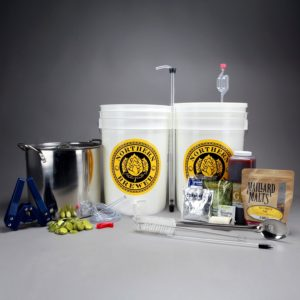 beer kits with malt extract, hops, yeast and other equipment (Northern Brewer Brew Shop)