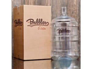 The Bubbler's plastic container