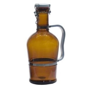 clear bottle with handle
