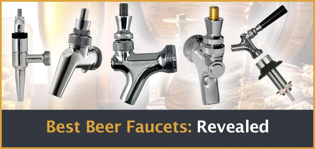 standard draft stainless two faucet beer brushed tall equipment kegco steel double towers tower faucets
