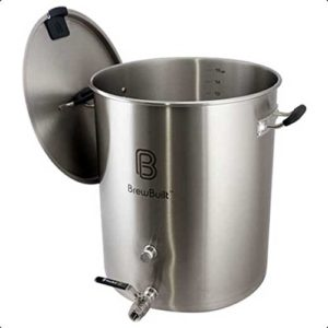 stainless steel pot with spigot and handles