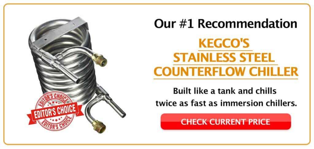 Kegco Stainless Steel Counterflow Chiller CTA