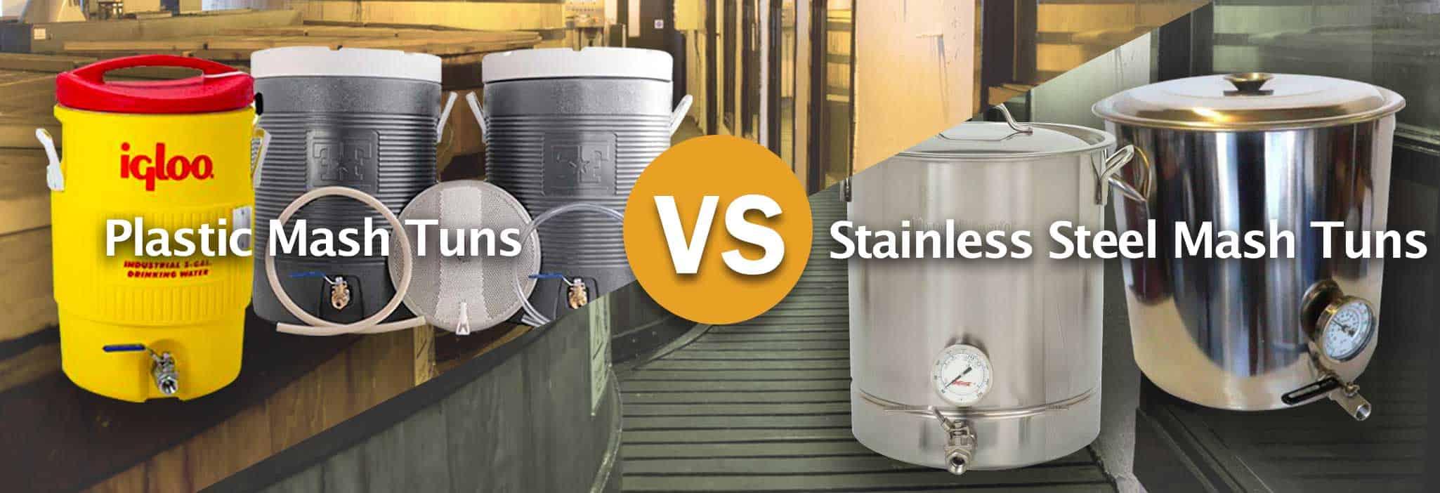 Plastic-Mash-Tuns-vs.-Stainless-Steel-Mash-Tuns