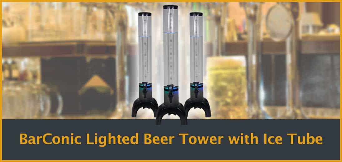 BarConic Lighted Beer Tower with Ice Tube