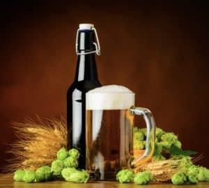 brewed beers with the ingredients
