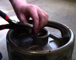 disassembling the keg