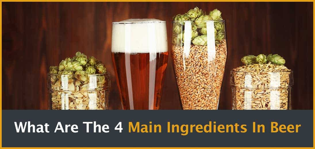 The main ingredients of beer