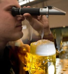 Refractometer usage in beer making