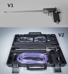 2 versions of the Blichmann beergun