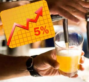 5% increase of home brewers