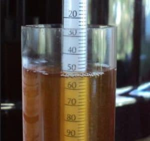 FG rating and hydrometer calculation
