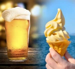 beer and ice cream