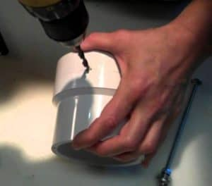 Using a power drill