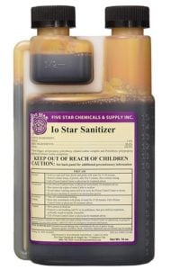 Five Star IO homebrew best Sanitizer