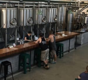 inside a brewery