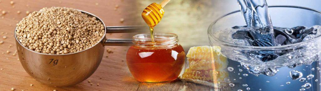 ingredients in homebrewing: honey and water