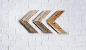 Reclaimed Wood Arrows