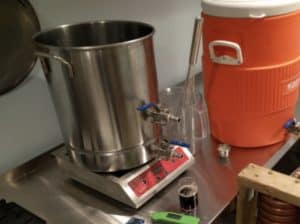 homebrewing in an induction stove
