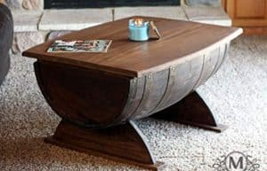 Wine Barrel Coffee Table mancave decor