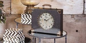 World Map Suitcase Clock