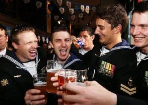 beer drinking ship crews