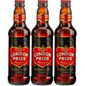 3 bottles of London Pride Beer