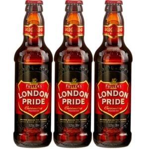 3 bottles of London Pride Beer