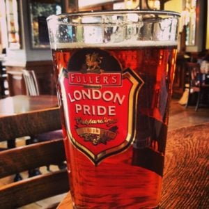a glass of beer from london
