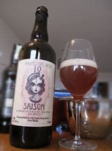 Jolly Pumpkin iO Saison label on bottle