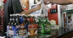selling beers