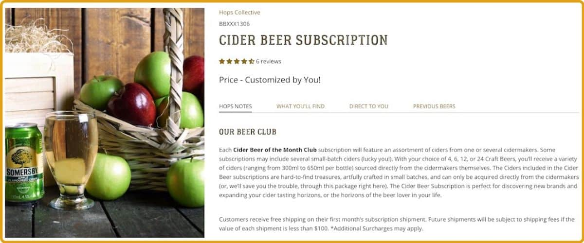 Hops Collective Cider of the Month Club