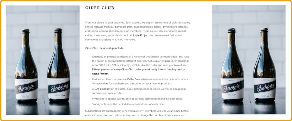Shacksbury Cider of the Month Club